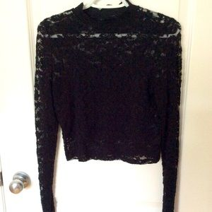 NWOT - ONLY Lace Crop Top